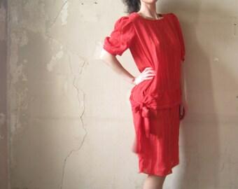 Pin-Stripe Drop-Waist Dress (s)