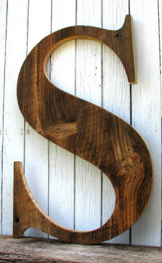 sale large rustic barn wood letter s 25 inches tall With rustic letters for sale