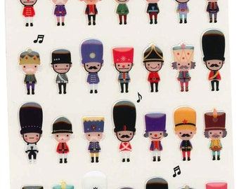 Korean Scrapbook Die-cut Epoxy Stickers, Toy soldiers (STSM03078)