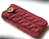 iPod Touch case iPhone 4/ 5, Android, HTC Droid Incredible bag, Mobile Smartphone cover, BlackBerry, Samsung phone sleeve in Dried Rose
