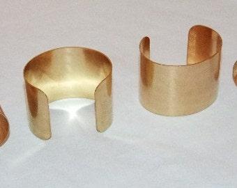 Brass Bracelet Cuff Blanks For Jewelry Making 2 inch Pkg Of 4