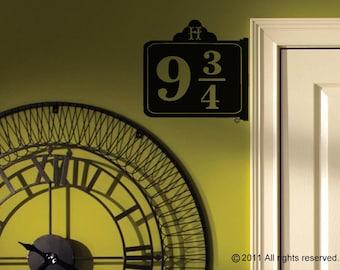 9 3/4 Replica Sign - Wall Decal / Vinyl Sticker