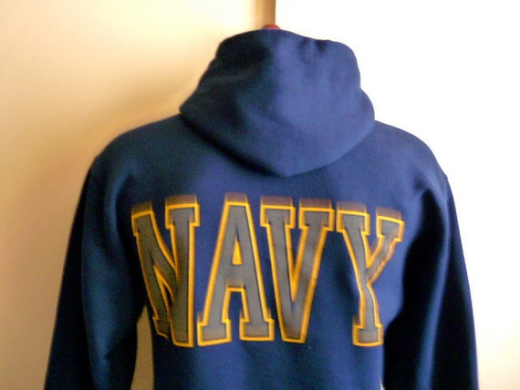 vintage 90's United States US Navy graphic hooded