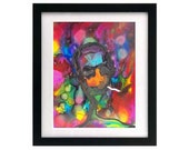 8.5 x 11 Hunter S Thompson - Limited Edition Signed Art Print