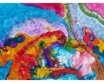 P63 - Abstract Artist Postcard - Brian Moss Painter