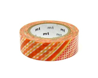 MT Washi Masking Deco Tape Flower Orange Design