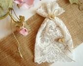 Lace Favor Bags, Christening Lace Favor Bags, bridal shower favor bags