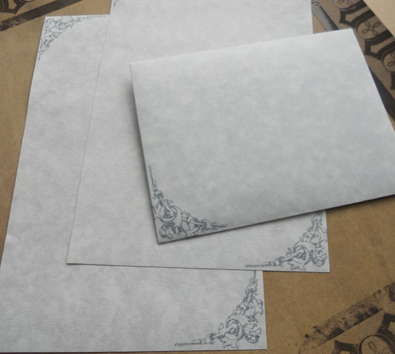 Blue Parchment Paper Stationery Set Writing Paper Hand