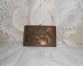Vintage Brass belt buckle COLT .357  Magnum Python Free Shipping
