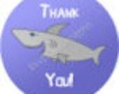 "Shark Stickers - Sheet of 20 - 2"" round"