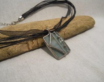 Celadon Green Glass Pendant