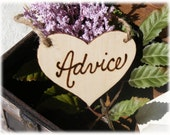 Rustic Wooden ADVICE wedding sign in natural wood - Made to order