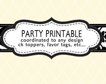 Coordinating Party Printable - Design Add On