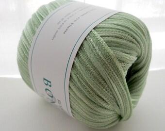 Pale sage green cotton-blend yarn, Bonnie yarn by Reynolds, bulky-weight yarn