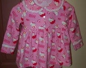 Cute Girls Size 5 Pink Hello Kitty Specialty Pajamas