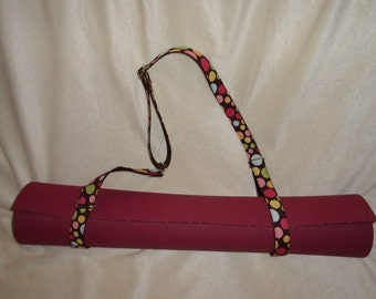 Custom fully adjustable yoga mat carrying strap