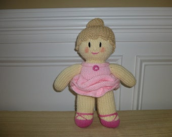 Ballerina Doll - Hand Knitted Toy - Recital