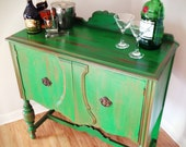 Antique Emerald Green Buffet Server-RESERVED FOR JEANETTE