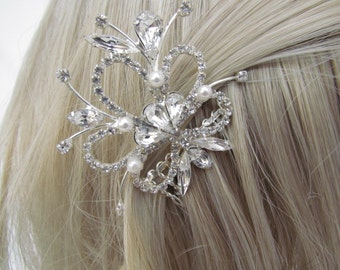 Small bridal hair comb crystal 1920's wedding hair accessories bridal hair jewelry wedding headpiece bridal jewelry wedding accessories hair