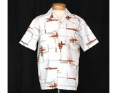Vintage 70s Intersecting Astral Plains Mens Shirt
