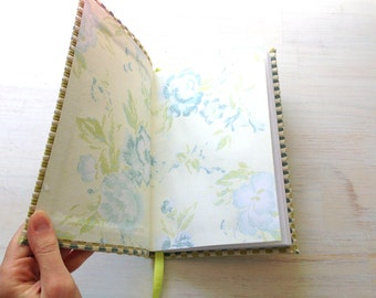 Notebook: Journal, Christmas, Stocking Stuffer, Blank, Soft, Textured, Blue, Green, Gift, For Her, For Him, Unique, Unlined, One Of A Kind