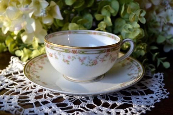antique theodore haviland limoges fine bone china tea cup and. Black Bedroom Furniture Sets. Home Design Ideas