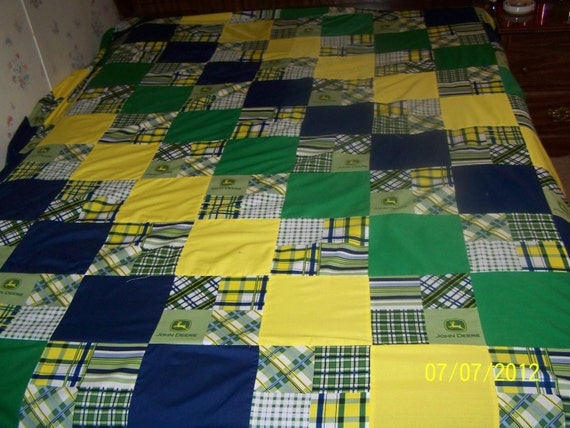 Tractor Sewing Pattern : John deere quilt by jmlagrange on etsy