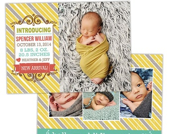 Birth Announcement Template for Photographers Photo Card Template Photography Birth Announcement Photoshop Card Template - BA151