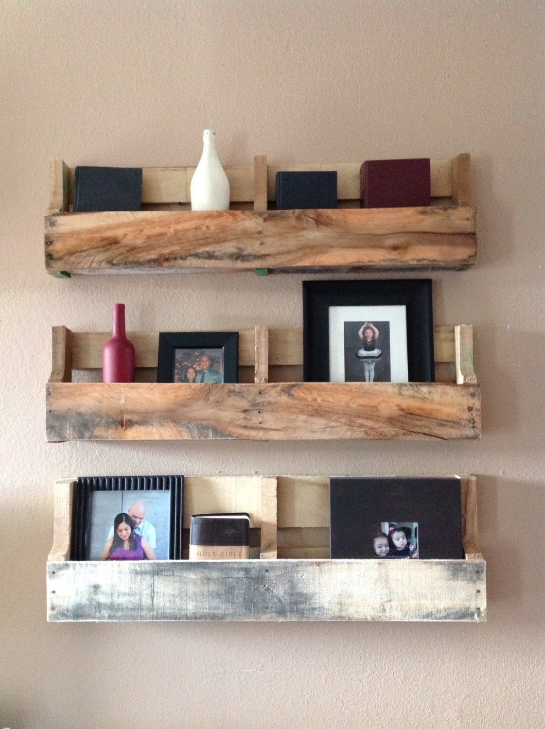 Reclaimed Pallet Shelves Set Of 3 By DelHutsonDesigns On Etsy