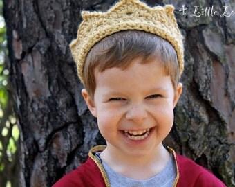 Boys Prince charming crochet crown,