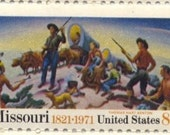 Missouri Statehood Pioneers Vintage USPS Postage Stamps, Sheet of 20