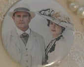 "2.25"" MIRROR or MAGNET, Downton Abbey, Grantham Estate, Robert and Cora, soon to be Earl and Countess of Grantham"