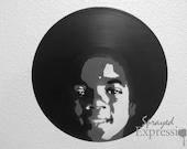 Michael Jackson Vinyl Record Painting