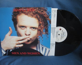 """Vintage, Simply Red - """"Men And Women"""", 80s Rock, New Wave, Party Music, Vinyl LP, Record Album, Original First Press"""
