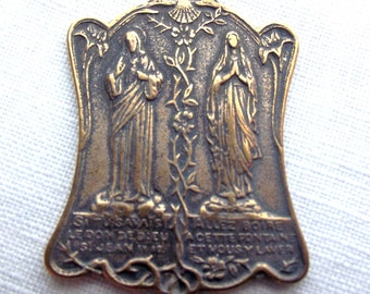 Idulgence Prayer Medal Jesus and Mary