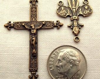 Bronze Fleur de Lis Rosary Set VP189/254
