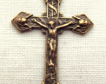 Bronze Crucifix with Angels