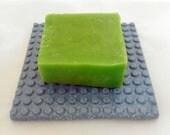 Blue porcelain soap dish, modern soap dish, minimal design, futuristic bathware
