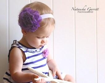 purple headband..baby girl headband..spring headband..
