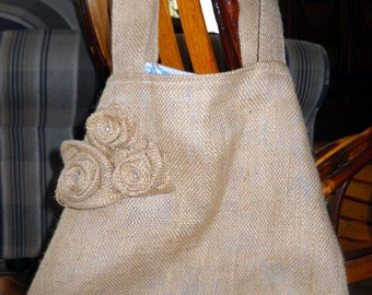 Upcycled Burlap Tote Bag