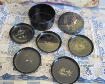 Sweet Little Japenese/ china   Coaster Set 5 Coasters :)