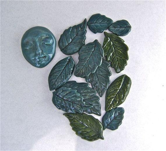Porcelain Tile Set - Lady of the Leaves