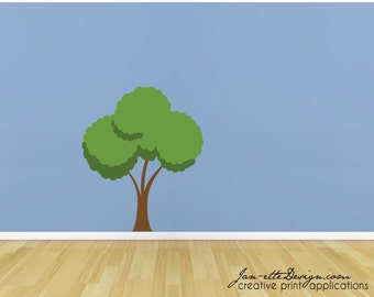 Tree Fabric Wall Decal,Removable and Repositionable Tree Wall Decal