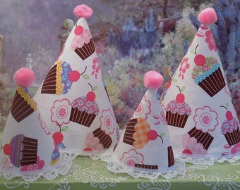 Birthday Party Hats for Your Little Girl and Her 18 Inch Doll