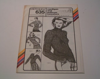 Vintage Stretch & Sew 635 Cardigan and Pullover Sweaters