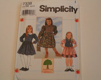 Simplicity Pattern 7337 Appletree by Fabric Traditions Girl Dress and Hat