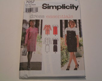 Simplicity Pattern 7057 Dress Essentials Miss One or Two Piece Dress