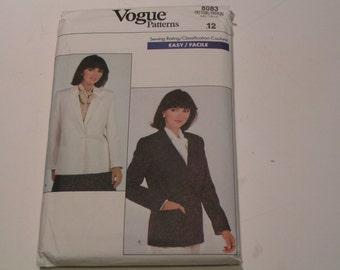 Vintage Vogue Pattern 8083 easy Miss Petite Jacket