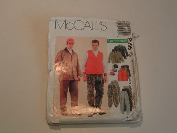 McCalls Pattern P395 Sportman Men Unlined Jacket Unlined Vest Pants and Hat