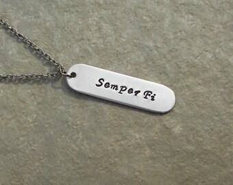 "Marines ""Semper Fi"" Necklace"